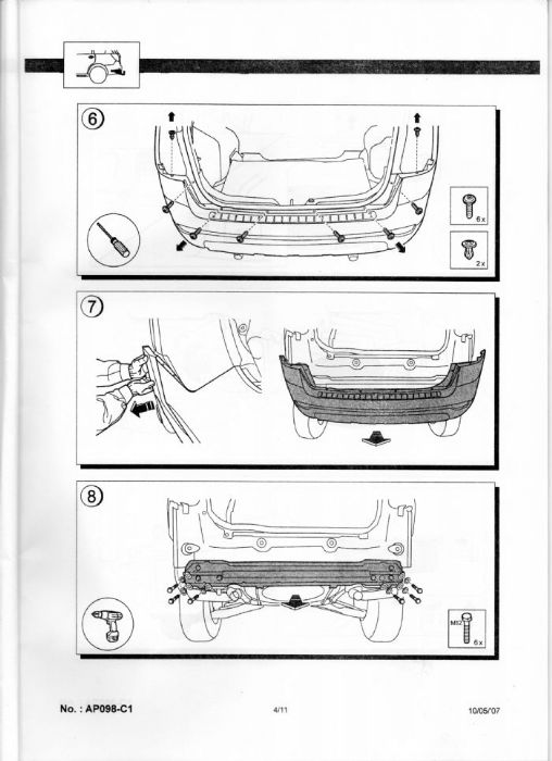 Chevrolet wiring kit chevrolet owners club forum page 2 installation of new tow bar is a reversal of above use a torque wrench to verify bolt settings asfbconference2016 Gallery